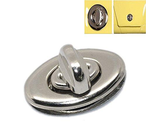 PEPPERLONELY Brand 10 Sets Silver Tone Handbag Suitcase Purse Twist Turn Locks