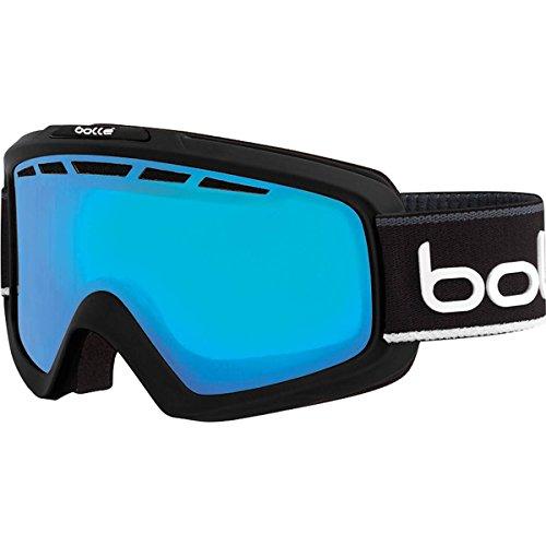 Bolle Nova Ii Modulator Vermillion Blue Polycarbonate Googles, Matte Black/White, One - Ski Goggles Vermillion Bolle Modulator