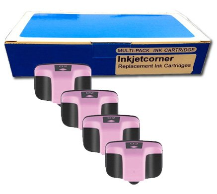 Inkjetcorner 4 Pack Light Magenta Remanufactured Ink Cartridge for HP No. 02 C8775WN HP Photosmart 3110 3210 3310 C5180 C6180 C6280 C7180 C7280 C8180 D7260 D7160 D7360 D7460 8250