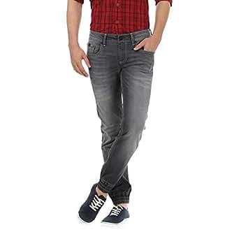 Basics B1279 Low Rise Casual Jeans for Men - 36 EU, Gray