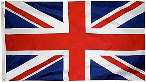 Ericraft Bandera Reino Unido Grande 90x150cms Bandera Inglesa balc/ón para Exterior Reforzada y con 2 Ojales met/álicos Bandera de Gran Breta/ña