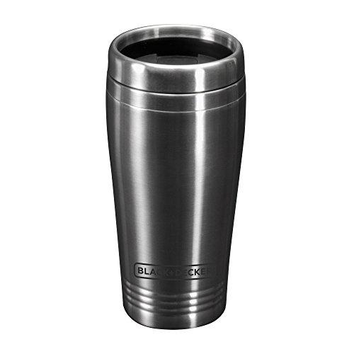BLACK+DECKER CM625B Programmable Single Serve Coffee Maker with Travel Mug, Black Food ...