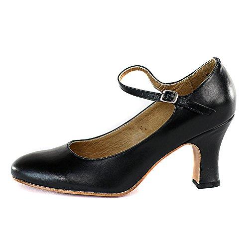 """Dimichi Adult MIA Klassische Ledersohle 3 """"Heel Character Schuhe Schwarz"""