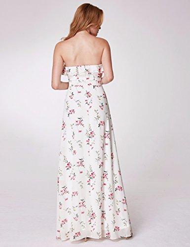 Fleurs Lonuge Demoiselle B Blanc d'honneur 07239 Robe Bal Femme de Pretty Ever x0STq