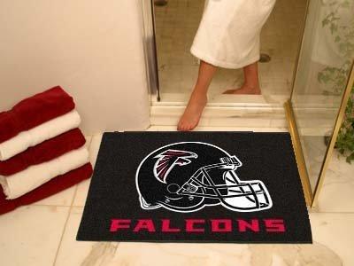 Mat NFL Team: Atlanta Falcons - Helmet Logo on Black, Size: 2'10