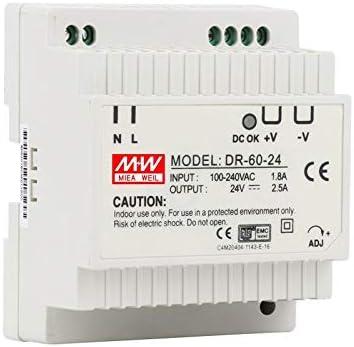 CHUN-Accessory DR-60 60W Single Output 5V 12V 15V 24V Din Rail Switching Power Supply