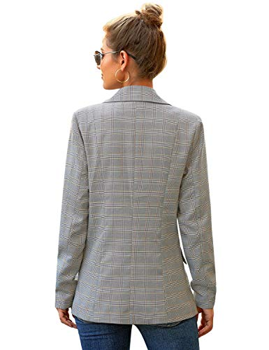 luvamia Women's Casual Long Sleeve Lapel Button Slim Work Office Blazer Jacket