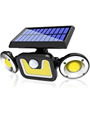 Solar Lights Outdoor, Automatic Motion Sensor Flood Light with 360 ° Angle Adjustment, Waterproof Wall Mount Security Light for Porch Garden Patio Yard Garage Pathway