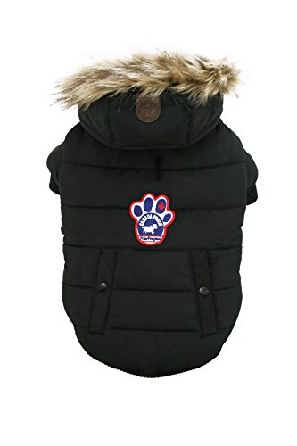 Canada Pooch North Pole Parka, Black, Size 24 by Canada Pooch