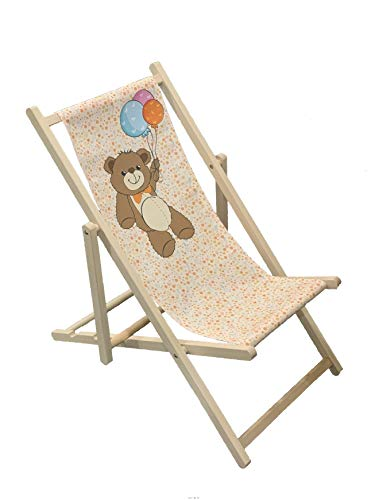 TEDDY – Wooden Folding Decking Chair for Kids Outdoor Garden Patio Balcony Camping