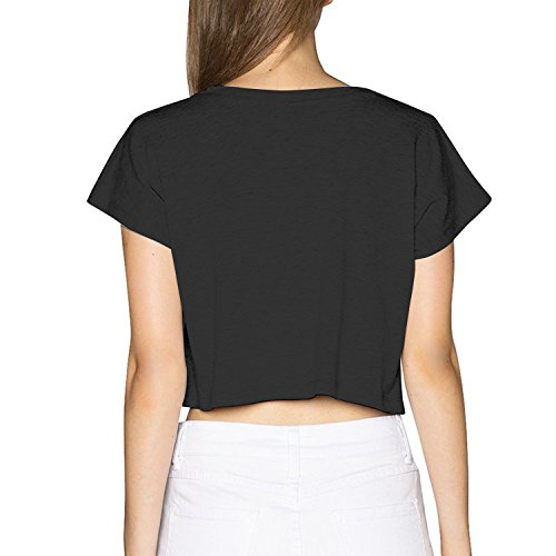 4de99125dfb689 Women s Marshmello Turquoise Color Bare Midriff Crop Top T-shirt White L