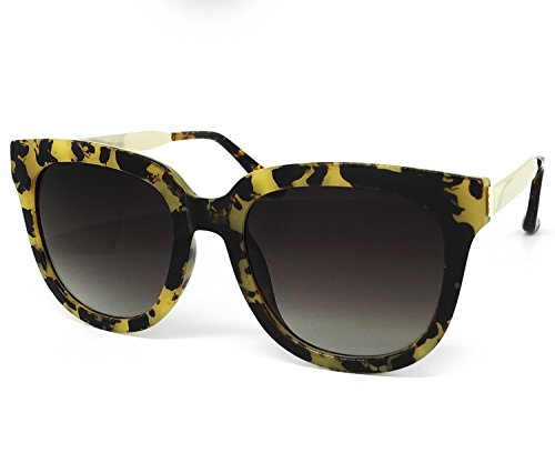 O2 Eyewear 6714 Premium Oversize Womens Mens Mirror Funky Retro Fashion Candy Sunglasses (METAL ARM, - Sunglasses Miranda