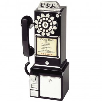 1950 Retro Classic Pay Phone Telephone- Copper