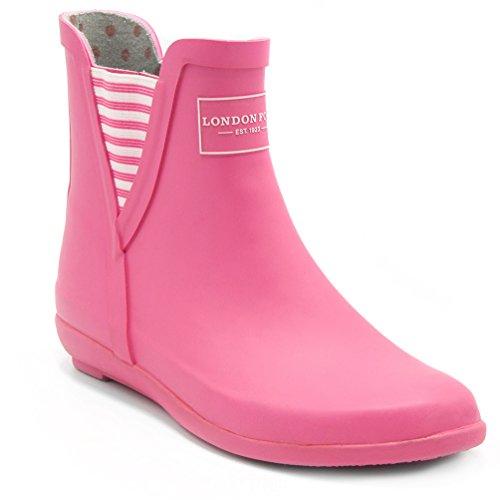 London Fog Mujeres Piccadilly Rain Bota Pink
