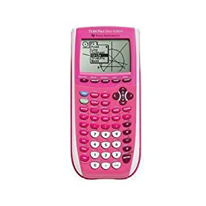 Texas Instruments Inc. TI-84 Plus Silver Edition Pink Graphing Calculator (Extra Purple faceplate)