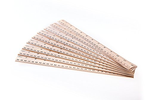 Salare 20PCSPackWoodRuler for School/Office/StudentWooden MeasuringRuler, With 2 scale(12Inchand30CM) by Salare (Image #4)