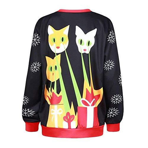 Camisa Para Ocio Ropa Blusa Manga Larga Cuello Redondo Con Otoño Mujer 1 Moda De Estampado Elegante Suéter Sudadera Colour Tops La PgdxBFF