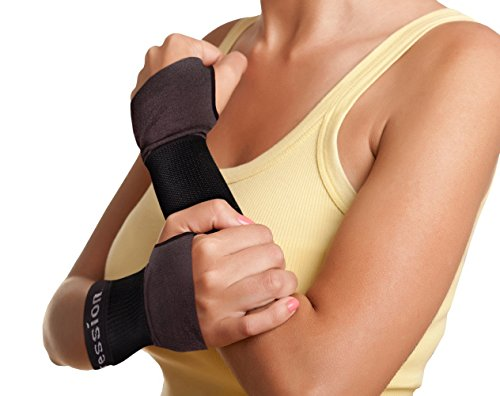 Copper Compression New Recovery Wrist Sleeve with Adjustable Wrap for Extra Support. Guaranteed Highest Copper Wrist Brace. Carpal Tunnel, RSI, Sprains, Workout (1 Sleeve Medium - Fits Either Hand) by Copper Compression (Image #1)