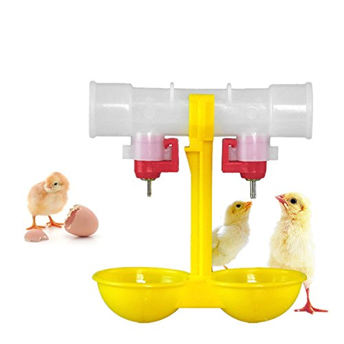 Delight-eShop-Double-Outlet-Drinking-Hanging-Chickens-Cups-Nipple-Drinker-Poultry-Waterer-Hot