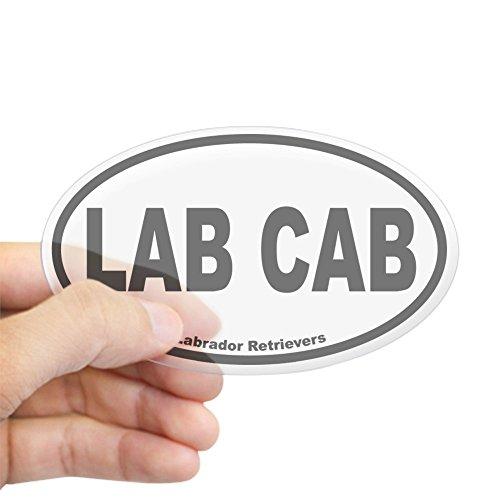 Labrador Chocolate Sticker (CafePress Lab Cab Oval Sticker Oval Bumper Sticker, Euro Oval Car Decal)