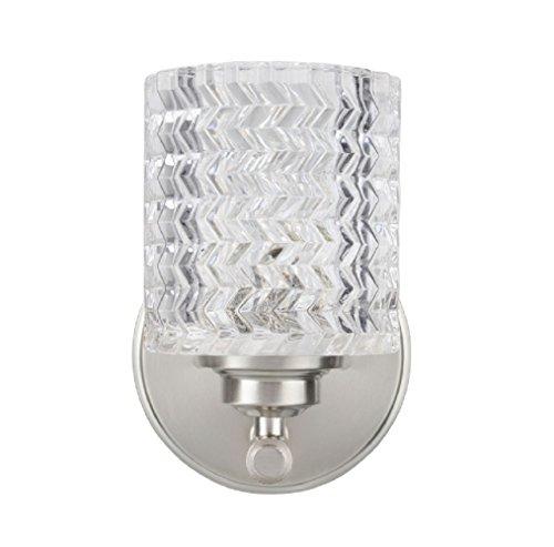 (Aspen Creative 62056, One-Light Metal Bathroom Vanity Wall Light Fixture, 5 1/2