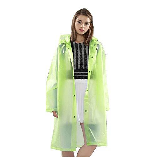 Grün Turismo Moda Lungo Impermeabile Abbigliamento Trasparente Adulto Poncho Giovane Adulti Alla Deriva Outdoor Singolo Escursionismo axB6wvqx
