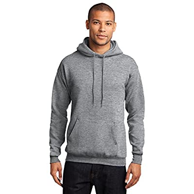 Port & Company Men's Classic Pullover Hooded Sweatshirt Athletic Heather for sale