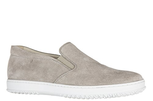Hogan slip on homme en daim sneakers h168 gris