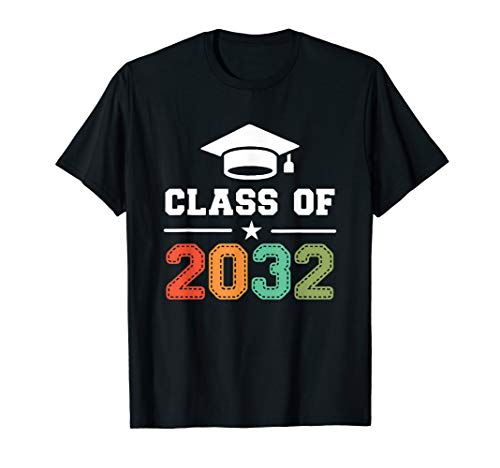 First Class T-shirt - Class of 2032 T-Shirt First Day of School Grow With Me Shirt