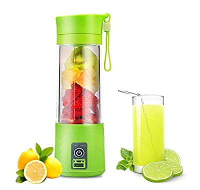 Personal Blender Juicer Cup,Water Bottle 380ml with USB Charger Portable Fruit Mixing Machine