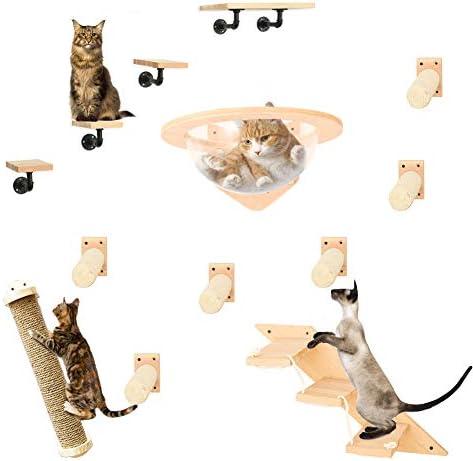 H 34,5 x B 39 x T 19,5 cm Wandregal Katze 10-Teilig aus MDF-Holz ca