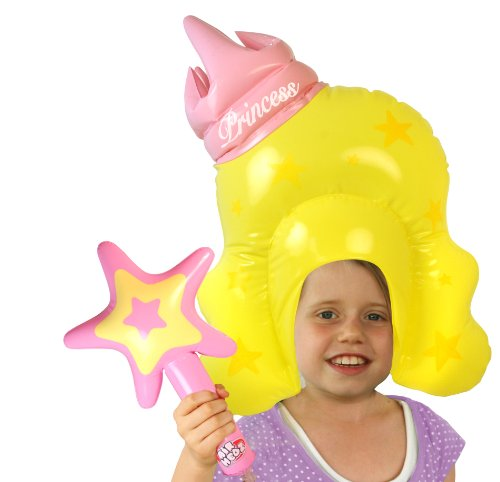 [Bluw Inc Inflatable Princess Wig And Wand] (Blow Up Head Costumes)