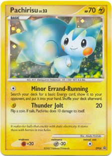 Pokemon Single Card Promo Diamond & Pearl Holofoil Pachirisu (Pokemon Pearl Pachirisu)