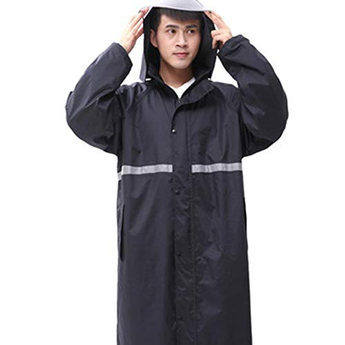 colore Cloth Set Mantella Uomo Per Trekking Adulti Rain Adulto Oxford Antipioggia Dimensioni Impermeabile Zhangqiang Da Lungo Pongee Navy Black L Tuta zqO4Rz