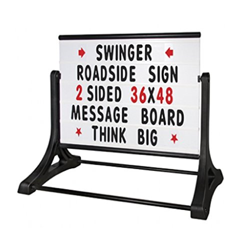 Magic Master RS-SSW-MB Swinger Roadside Changeable Message Sign (White)