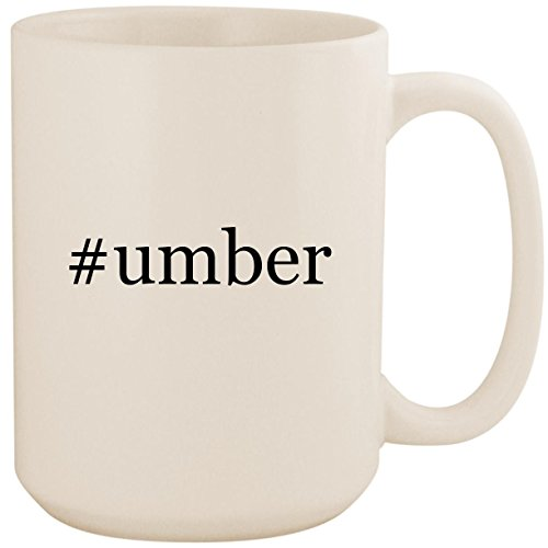 #umber - White Hashtag 15oz Ceramic Coffee Mug -