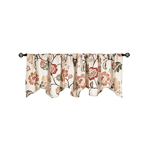 Style Selections Tombolo 20-in Spice Polyester Rod Pocket Valance (Style Selections Rod)