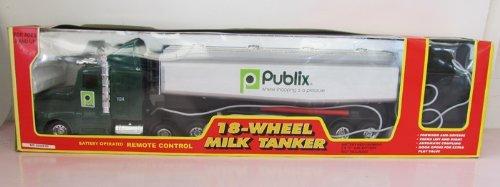 Milk Tanker Trucks - Publix 18 Wheel Milk Truck Tanker Remote Toy Vehicle