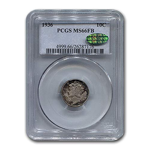 1936 Mercury Dime MS-66 PCGS CAC (FB) Dime MS-66 PCGS