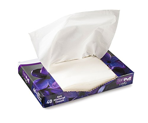 Crystalware Facial Mini White Tissues – Interfold Small Sized White Tissues – Bulk Pack 40/Box 10-Pack (400 Tissues)