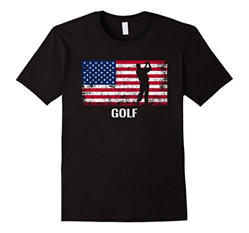 Mens American Flag Golf Shirt - Archery Team Gift. Medium - Team Golf Usa Shirts