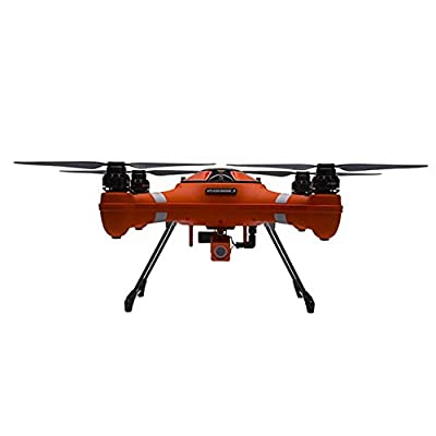 Splash Drone Fisherman Version with one set propeller FPV radio controller 1x set of landing gear Carry case1x 5200mAh Battery Balance charger Waterproof payload release system with FPV camera