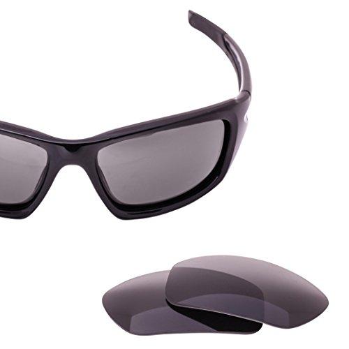 LenzFlip Replacement Lenses for Oakley VALVE Sunglasses - Gray Black Polarized - Oakley Polarized Valve Lenses Replacement
