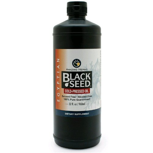 Amazing Herbs Black Seed Oil - Cold Pressd - Egyptian - 32 Fl Oz by Amazing Herbs