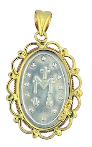 Buy sterling silver cameo miraculous medal pendant