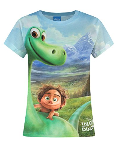 Price comparison product image Official The Good Dinosaur Arlo and Spot Mountains Sublimation Girl's T-Shirt (9-10 Years)