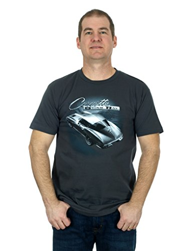 Men's Corvette Stingray Short Sleeve T-Shirt,Large,Charcoal ()