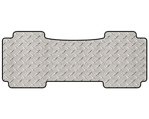 (Intro-Tech CV-197R-DP Diamond Plate Second Row 1 pc. Custom Fit Floor Mat for Select Chevrolet Corvair Models - Simulated Aluminum, Silver )