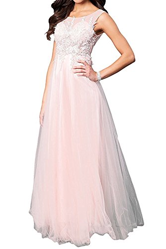 Prinzess Festlichkleider Brautmutterkleider linie Spitze A Rosa Rock Ballkleider Abendkleider Langes Damen Charmant xWfwgUqzFU