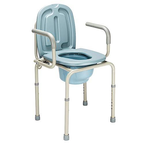 Height Adjustable Bedside Commode Seat Toilet Potty Chair Toilet Safety Frame Portable Versatile Multifunctional Elderly Disabled Handicapped People Hospital Medical Slip-Resistant Rubber Tips Chair by HPW (Image #7)